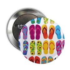 "Colorful-Flip-Flops-Vector-Set 2.25"" Button"