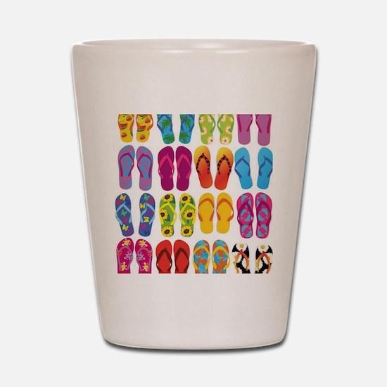 Colorful-Flip-Flops-Vector-Set Shot Glass