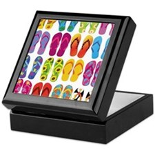 Colorful-Flip-Flops-Vector-Set Keepsake Box