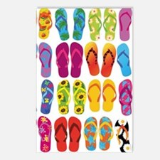 Colorful-Flip-Flops-Vecto Postcards (Package of 8)