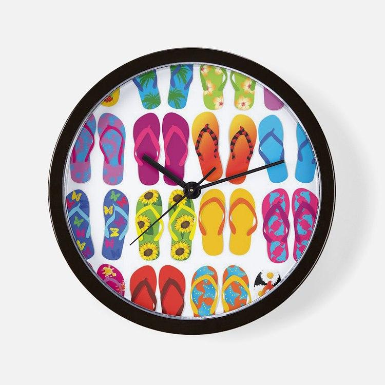 Colorful-Flip-Flops-Vector-Set Wall Clock