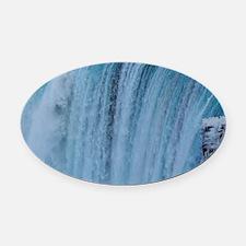 Falls Oval Car Magnet