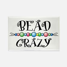 Bead Crazy Rectangle Magnet