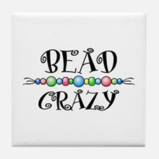Bead Crazy Tile Coaster