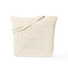 reel to reel white Tote Bag