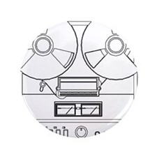 """reel to reel 3.5"""" Button"""