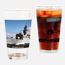badger de framed panel print Drinking Glass