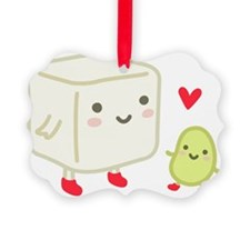 Organic Tofu and Beans Red Socks Ornament