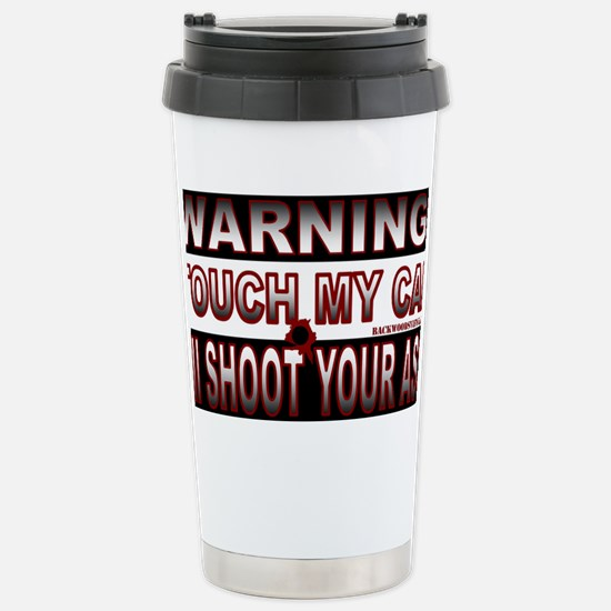 Touch my Car Stainless Steel Travel Mug