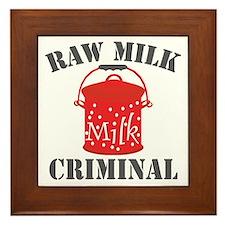 rawmilkcriminal Framed Tile