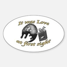 Love at First Sight Oval Decal
