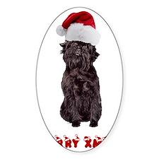 Affenpinscher Christmas Decal