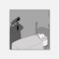 "The Grim Flautist - no text Square Sticker 3"" x 3"""