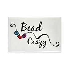Bead Crazy II Rectangle Magnet (10 pack)