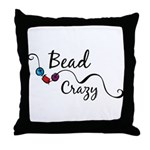 Bead Crazy II Throw Pillow