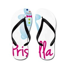 Priscilla-the-snow-woman Flip Flops