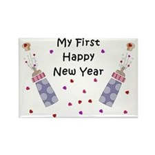 Babys First New Year Rectangle Magnet