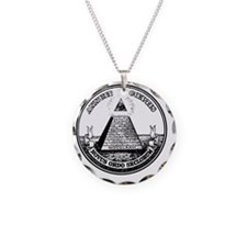 All Seeing Eye black fixed Necklace