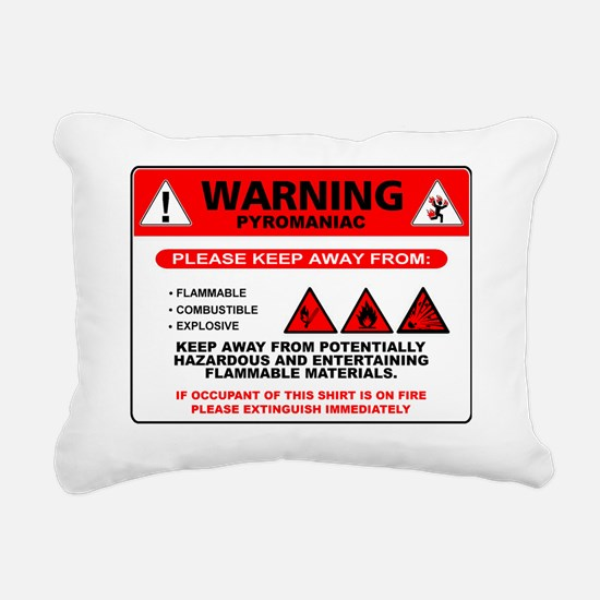 Pyro_back Rectangular Canvas Pillow