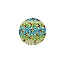 Honey Bee Blue Mini Button