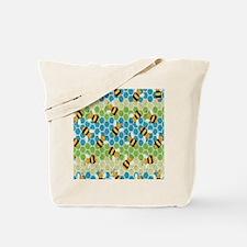 Honey Bee Blue Tote Bag