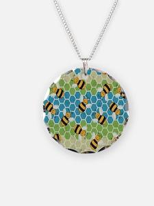 Honey Bee Blue Necklace