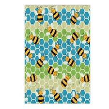 Honey Bee Blue Postcards (Package of 8)