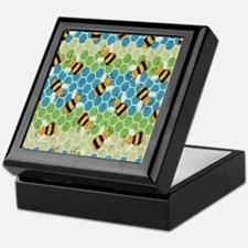 Honey Bee Blue Keepsake Box