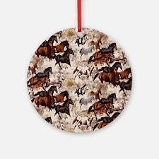 Horses Round Ornament