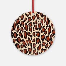Jaguar Natural Brown Round Ornament