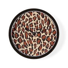 Jaguar Natural Brown Wall Clock