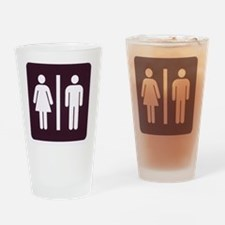 bathroom people sign Drinking Glass