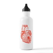 Heart red Water Bottle