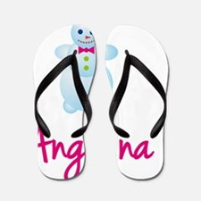 Angelina-the-snow-woman Flip Flops