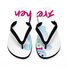 Gretchen-the-snow-woman Flip Flops