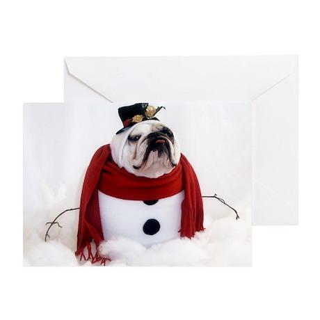 English Bulldog Christmas Greeting Cards, Thank You Cards, and ...