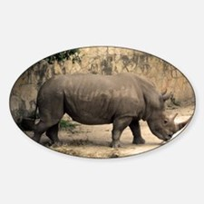 Rhino Sticker (Oval)