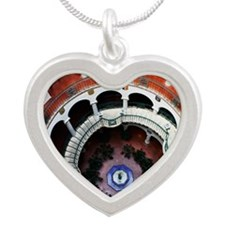 2010c-003-2x3-P Silver Heart Necklace