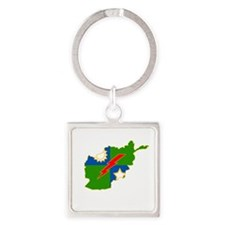3-75 Afghanistan Square Keychain