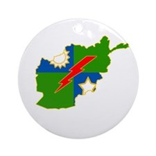 3-75 Afghanistan Round Ornament