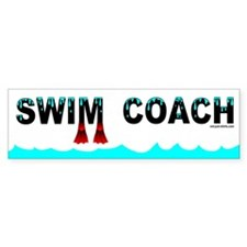 Swim Coach Bumper Bumper Sticker