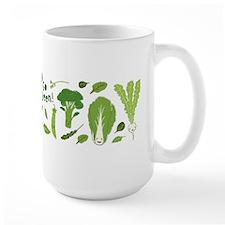 Go Green! Happy Vegetables Mugs