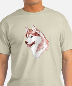 Red Siberian Husky Blue Eye T-Shirt