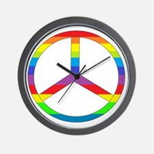 peace rainbow Wall Clock