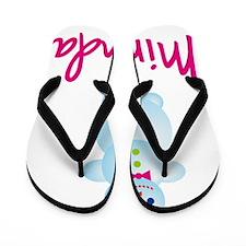 Miranda-the-snow-woman Flip Flops