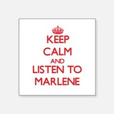 Keep Calm and listen to Marlene Sticker