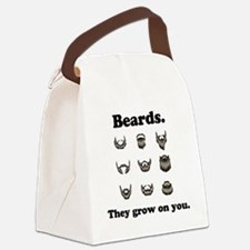 Beards - They grow on you Canvas Lunch Bag