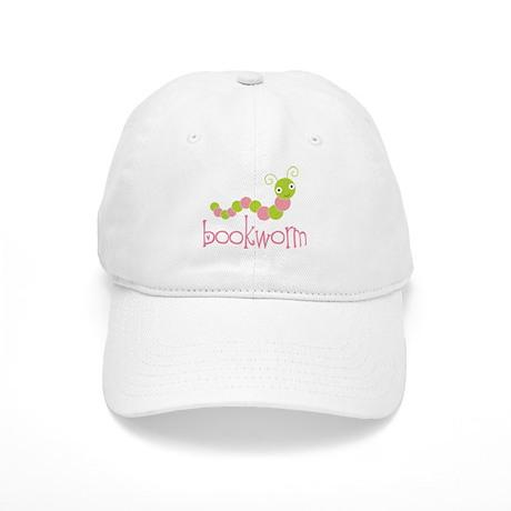 Bookworm Pink and Green Cap