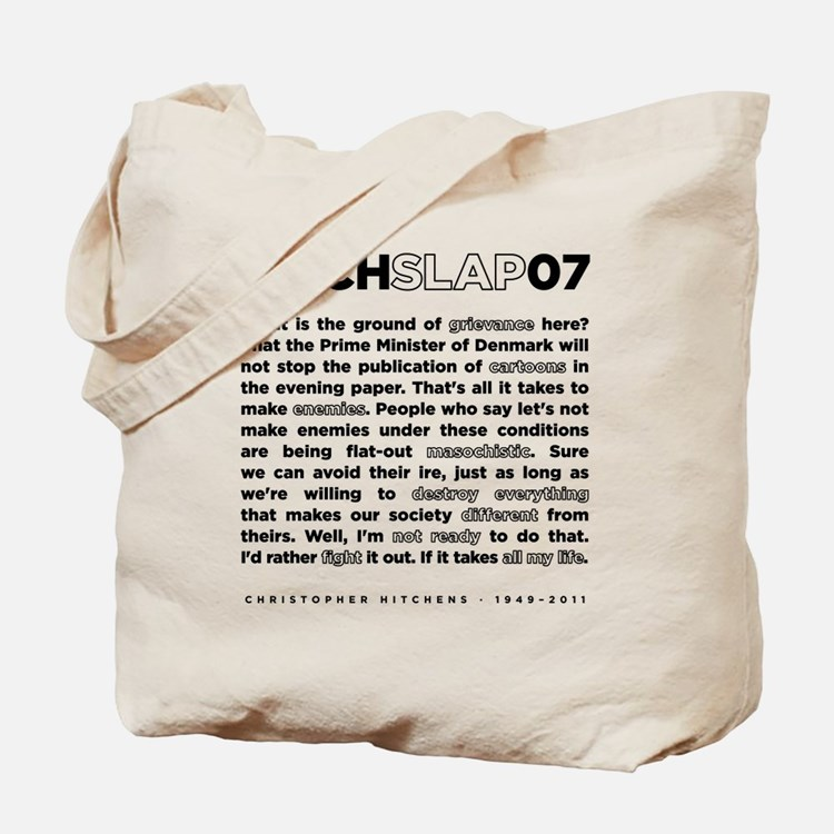 Christopher Hitchens Hitchslap 07 back wh Tote Bag