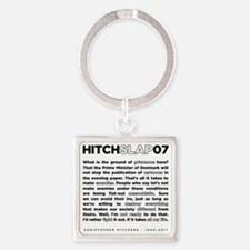 Christopher Hitchens Hitchslap 07  Square Keychain